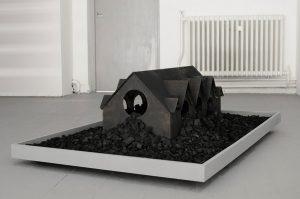 Jamie Lau | Back into the Black | 2012 | Burnt wood and coal | 100x150x140cm