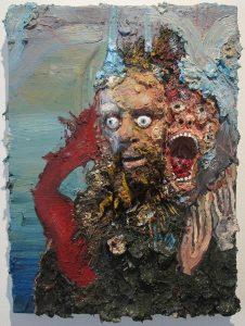 Ian Larson | The Misfortune Teller | 2013 | Oil, beeswax, human hair on canvas over panel | 61x46cm