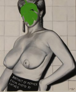 Alastair Mackinven | Portrait of Mother from Photo by Father | 2012 | Oil on canvas | 65×60.5cm