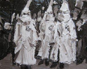 Enzo Marro | Ku Klux Klan | 2010 | Oil on canvas | 24x30cm