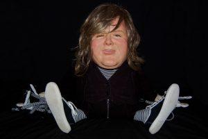 Wendy Mayer   Johnny B Goode   2012   Wax, papier mache, acrylic eyes & hair, fabric, rag dolls & needles   65x125x60cm   (1024×681)