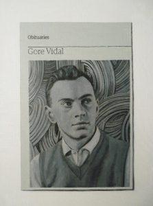Hugh Mendes | Obituary: Gore Vidal | 2012 | Oil on linen | 35x25cm