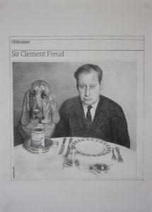 Hugh Mendes   Clement Freud   2009   Pencil on paper   40x30cm