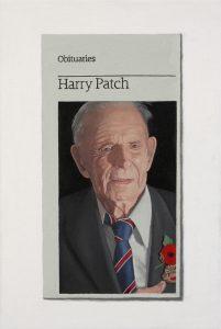 Hugh Mendes   Harry Patch   2009   Oil on linen   30x20cm