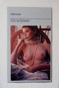 Hugh Mendes | Obituary: Sylvia Kristel | 2012 | Oil on linen | 30x20cm