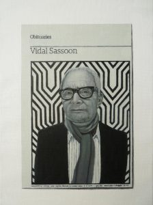Hugh Mendes | Obituary: Vidal Sassoon | 2012 | Oil on linen | 35x25cm