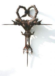 Seamus Moran   Devotion & Violence   2010   Resin, iron, rust, nails & leather