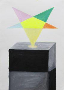 Alex Gene Morrison   Pentagram on plinth   2010   Oil & marker pen on paper   42×29.7cm