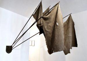 Nika Neelova | Histories of Deception | 2011 | Steel, wrought iron banisters, ash, graphite & rubber