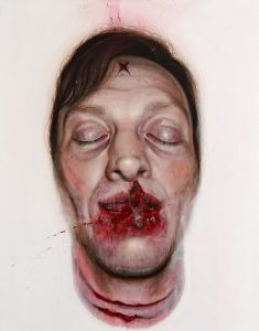 Gavin Nolan   Portrait as the Suicide of Robert Benjamin Haydon Attempt no. 3   2009   Oil on canvas   98x80cm