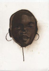 Sikelela Owen | Alek | 2013 | Oil on canvas paper | 42x59cm