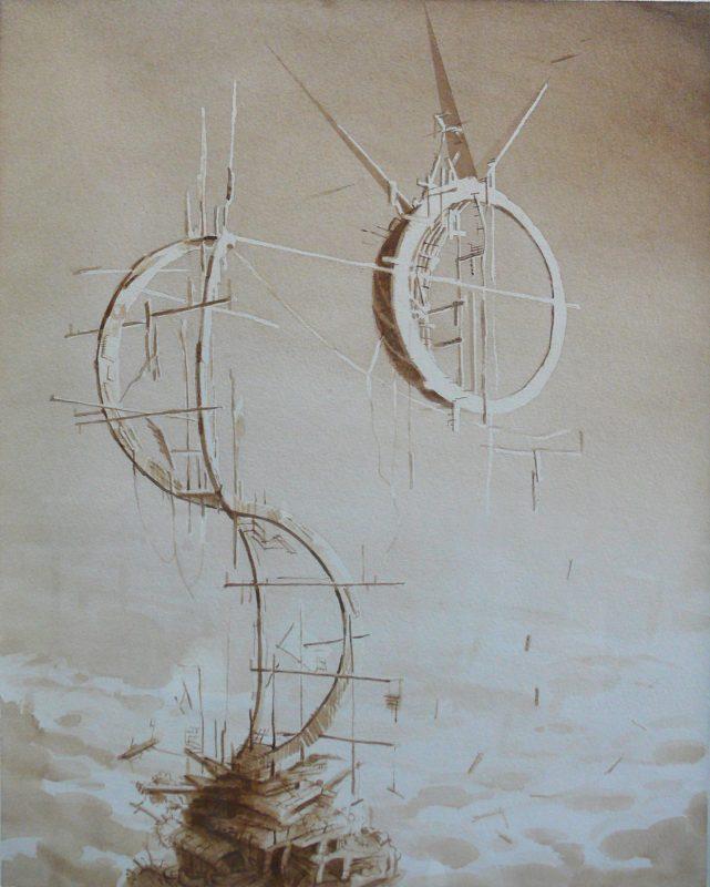 Tom Ormond   Habitation Complex (proposal)   2013   Gouache on paper   43.5×34.5cm