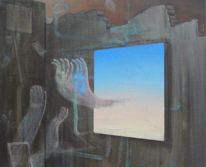 Tom Ormond   Into the Blue   2013   Oil on linen   46x56cm