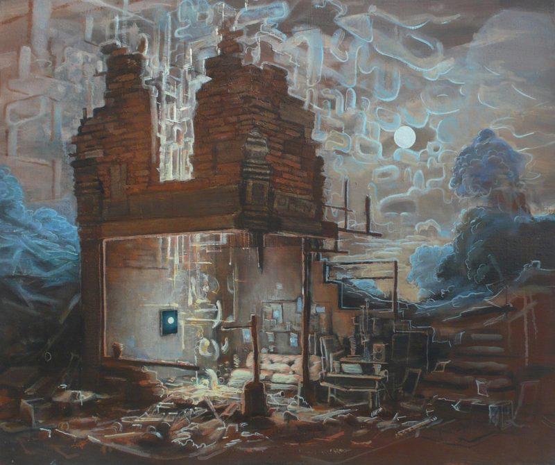 Tom Ormond   New Moons   2013   Oil on linen   46x56cm