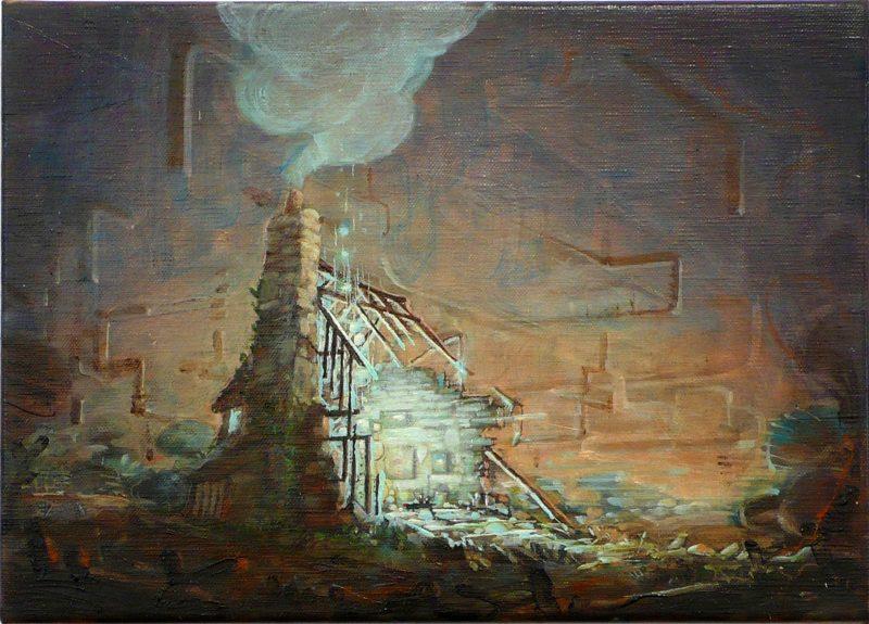 Tom Ormond   Small Studio Painting   2012   Oil on linen   26×35.5cm   (1280×920)