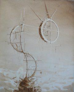 Tom Ormond   Habitation Complex proposal   2013   Gouache on paper   43.5×34.5cm