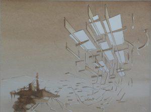 Tom Ormond   Platform Proposal  2013   Gouache on paper   24x32cm