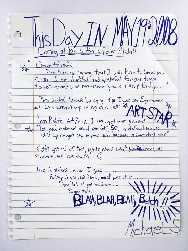 Michael Scoggins | May 19th 2008 | 2008 | Marker, calendar vinyl & prismacolor on paper | 170x130cm