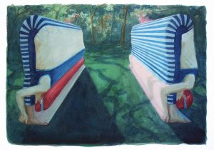 Senior_Benjamin_Stretches-I_2010_Watercolour-on-paper_31x41cm