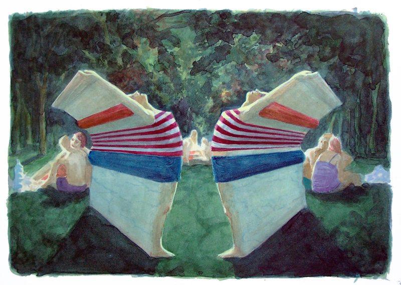 Benjamin Senior | Stretches II | Watercolour on paper | 31x41cm