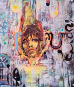 Dominic Shepherd | Black Metal Circle | 2010 | Oil on canvas | 36x31cm