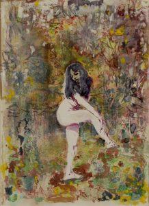 Dominic Shepherd | Cruel Sister | 2012 | Watercolour and pastel on paper | 51x37cm