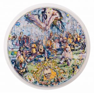 Dominic Shepherd | The Family | 2012 | Oil on canvas | 100cm diameter