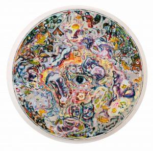 Dominic Shepherd | The Well | 2012 | Oil on canvas | 100cm diameter