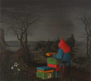 John Stark | 6 | 2011 | Oil on wood panel with bees wax | 31x35cm