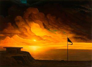 John Stark | Black Flag | 2009 | Oil on panel | 32×44.5cm