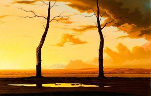 John Stark | Gateway | 2009 | Oil on panel | 24×38.5cm