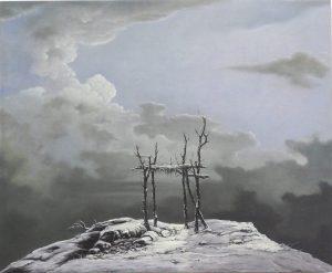 John Stark | Ladder | 2011 | Oil on wood panel | 46x55cm