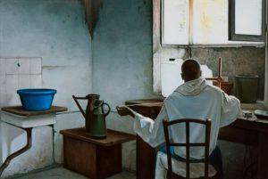 John Stark   The Book Binder   2012   Oil on wood panel   26×38.5cm   (458×307)