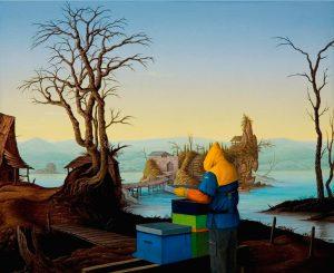 John Stark | The Islander | 2011 | Oil on wood panel | 27.5x35cm