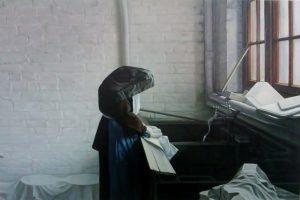John Stark | The Laundry Room | 2013 | Oil on wood panel | 31x46cm | (800×534)