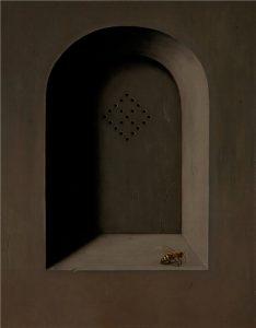 John Stark | The Outsider | 2011 | Oil on wood panel | 35×27.5cm
