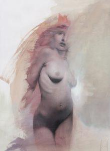 Gavin Tremlett | Amusement 1 | 2010 | Oil, charcoal & graphite on paper | 154x100cm