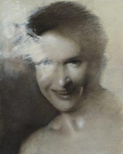 Gavin Tremlett | Amusement 8 | 2010 | Oil, charcoal & graphite on paper | 54x44cm