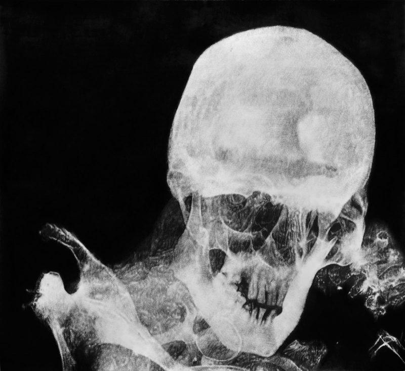 Eric Manigaud | Mummy (of a) Bearded Man | 2014 | Pencil & graphite powder on paper | 110x120cm