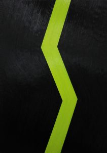 Alex Gene Morrison | Shockwave Green | 2014 | Oil on canvas | 92x66cm