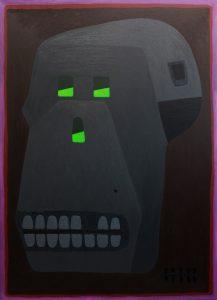 Alex Gene Morrison | Skull | 2014 | Oil on canvas | 185x135cm