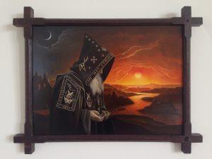 John Stark | Seer | 2014 | Oil on wood panel | 32x41cm