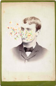Tom Butler | Love | 2014 | Gouache on albumen print | 16.5x10cm