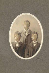 Tom Butler   Brothers   2014   Gouache on Albumen print   12.7×17.8cm