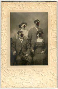 Tom Butler   The Huffs   2014   Gouache on Albumen print   15.2×22.9cm