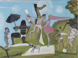 Dan Coombs   Up on the Hill   2014   Oil on canvas   75x100cm