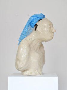 Kate Lyddon   Self Portrait (Humiliated)   2012   Glazed ceramic, dish cloth & synthetic hair   23x25x42cm