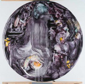 Dominic Sheherd | The Fortune Teller | 2015 | Oil on linen | 40cm diameter