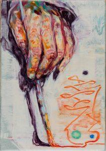 Dominic Shepherd | The Wand | 2015 | Oil on linen | 20x14cm