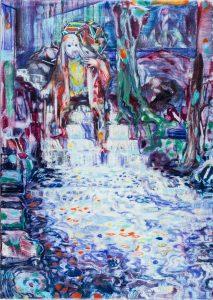 Dominic Shepherd | The Weir | 2015 | Oil on linen | 42x30cm